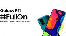 Samsung Galaxy F41 Makes its Debut; A Rebadged Galaxy M31 with 64MP Camera & 6,000mAh battery