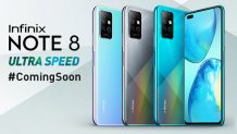 Infinix Note 8 is Coming to Pakistan Soon along with Infinix Note 8i; Dual Infinity O Display and 6 Cameras