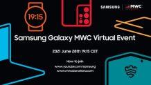 Samsung MWC 2021 online event will happen on June 28