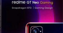 Realme GT Neo Gaming Poster Leaked, Design & Other Details Revealed
